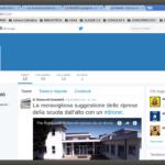 L'account Twitter della Scuola