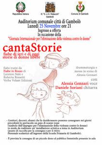"""""""CantaStorie"""", spettacolo teatrale per riflettere sulla violenza contro le donne"""